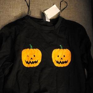 H&M  pumpkin boobs sweater